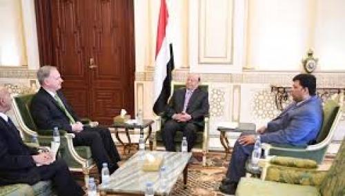 رئيس الجمهورية هادي يستقبل سفير الولايات المتحدة الامريكية لدى بلادنا
