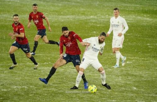ريال_مدريد يتعثر على ثلوج أوساسونا