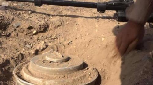مسام: انتزاع 1410 ألغاماً حوثية خلال الأسبوع الثاني من أبريل