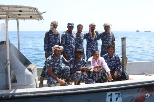 قوات خفر السواحل بحضرموت تنظم دورة ملاحية لمعرفة استخدام جهاز الـGPS