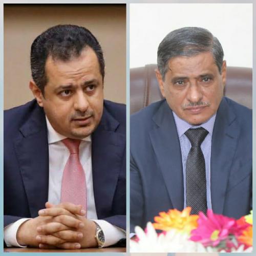 في اتصال هاتفي بالمحافظ البحسني-  رئيس الوزراء يوجه بمعالجة احتياجات المواطنين في محافظة حضرموت بشكل عاجل