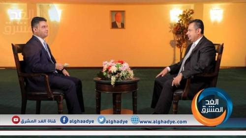 """اليوم.. لقاء لرئيس مجلس الوزراء معين عبدالملك على قناة """"الغد المشرق"""""""