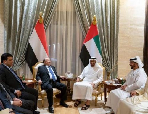 الرئيس هادي يعود إلى السعودية بعد زيارة إلى الإمارات .. تفاصيل  وكواليس الزيارة مصور