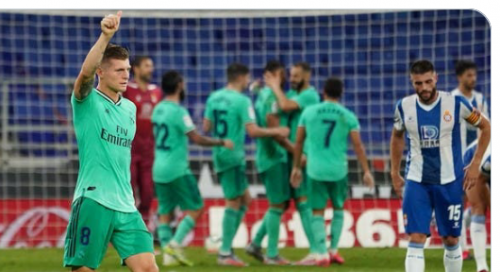 ريال مدريد يهزم إسبانيول بصعوبة.. ويبتعد بالصدارة