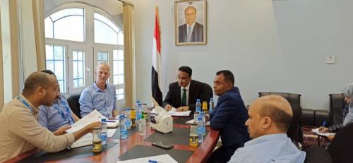 """*وكيل وزارة الإدارة المحلية """" مشبح """" يناقش الخطوات التنفيذية لمشروع تعزيز المرونة المؤسسية والاقتصادية في اليمن التابع لبرنامج الأمم المتحدة الإنمائي U N D P*"""