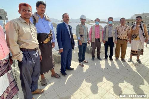افتتاح مشروع منظومه شمسيه كهرباء مطور  لمدرسة بلقيس للبنات في بيحان هي الاولى من نوعها