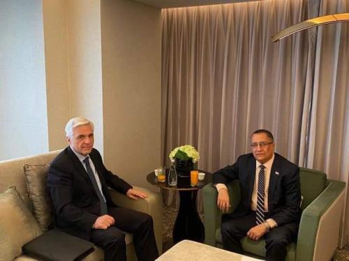 الخُبجي يبحث مع السفير الروسي آليات تنفيذ اتفاق الرياض والتهيئة للعملية السياسية الشاملة