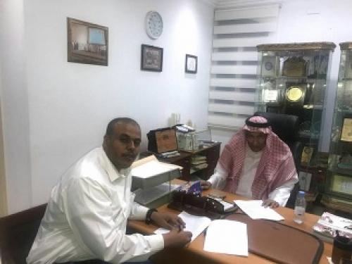 التوقيع على اتفاقية شراكة  تنموية بين المهندس ماجد يادين مؤسس مبادرة اخاء والدكتورعمر بامحسون مؤسس الصندوق الخيري