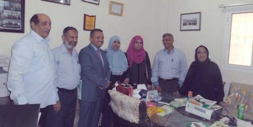 وفد منظمة حضرموت الصحية في زيارة لمركز السكري بالمستشفى الجمهوري في العاصمة المؤقتة عدن