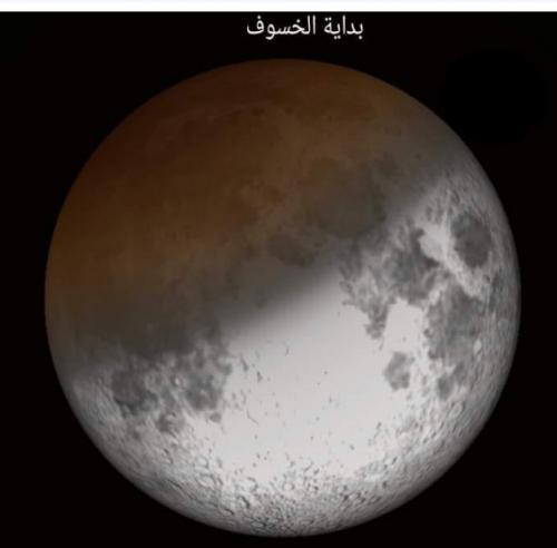 عاجل.. اليمن يشهد خسوفاً جزئياً للقمر
