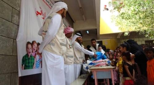 الهلال الاماراتي يقيم فعالية ابتسامة طفل بالساحل الغربي المخا