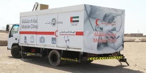 شاهد بالفيديو.. الهلال الأحمر الإماراتي يدشن عيادة طبية متنقلة بالساحل الغربي لعلاج اليمنيين