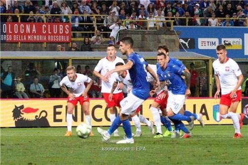 إيطاليا تقتنص تعادلا صعبا من بولندا