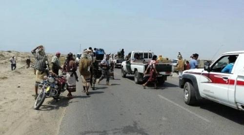 قوات الحـزام الامني تعـزز مواقعها على الخط الساحلي بأبيـن