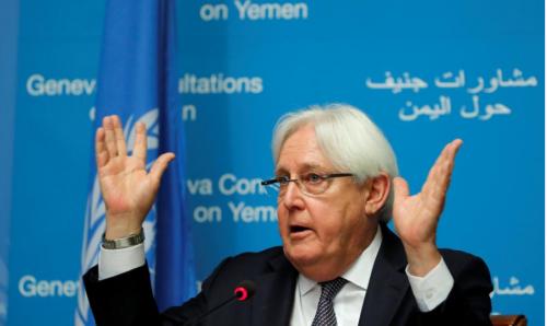 """عاجل.. غريفيث لـ""""مجلس الأمن"""": سقوط مأرب سيقوّض الحل السلمي في اليمن"""