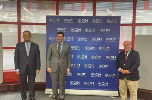 وزير الخارجية يبحث مع مدير عام منظمة الهجرة اوضاع النازحين واللاجئين في اليمن
