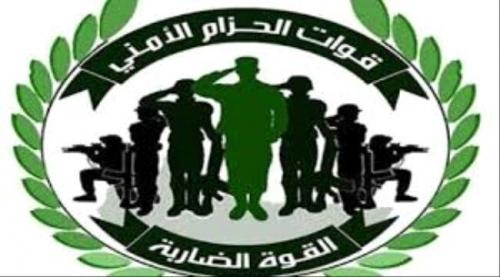 قوات الحزام الأمني في رصد تعتقل مطلوبين أمنياً في قضية المجنى عليه علي العتيقي