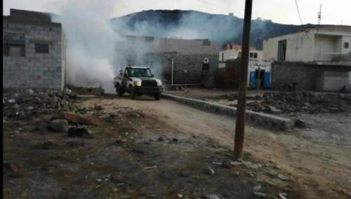 الحزام الأمني يشارك في حملة مكافحة الأوبئة بالعاصمة عدن