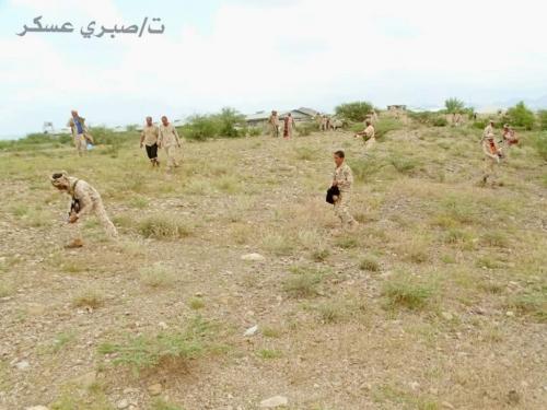 القوات الجنوبية تطهر مناطق جديدة في إب