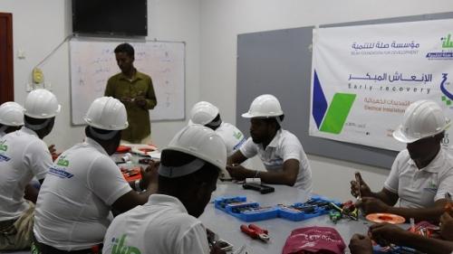 تدشين برنامج مهنتي بين يدي ٣ لتدريب ١١ شاب بتنفيذ قلم للإبداع وبتمويل صلة للتنمية