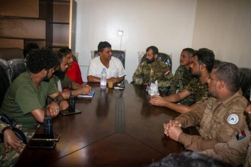 اجتماع يشهد عملية تسليم واستلام للقيادة الأمنية بدارسعد