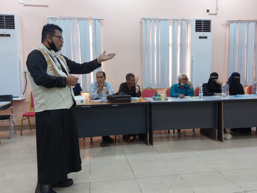 _  اتحاد نساء اليمن بعدن ينفذ الورشة التدريبية الخاصة بالمؤثرين والقادة المجتمعيين في انهاء العنف القائم على النوع الاجتماعي ...