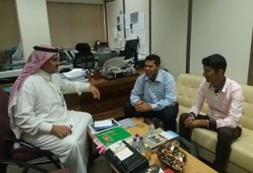 مدير عام البحث العلمي بجامعة حضرموت يزور مدينة الملك عبدا لعزيز للعلوم والتقنية بالرياض