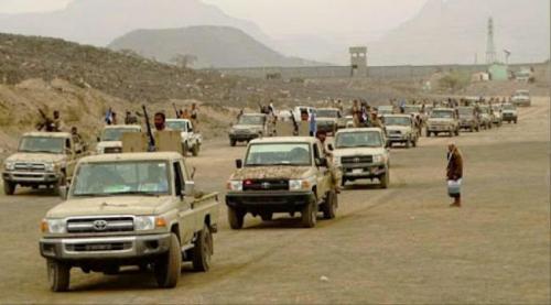 قوات الشرعية تعزز قواته في شقرة بعشرات الاطقم العسكرية