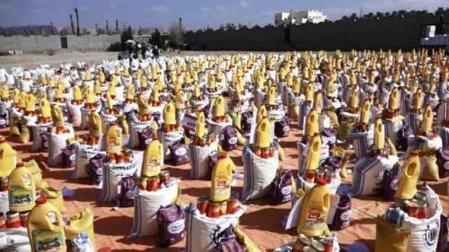 الوسط و آفاد تدشنان توزيع ألف سلة غذائية في سيئون وشبام