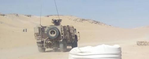عاجل /قوة عسكرية كبيرة  من التحالف تصل إلى معسكر العلم شرق عتق بشبوة