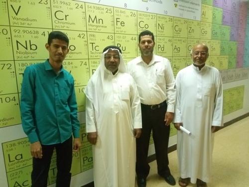 رئيس تحرير المجلة العربية للكيمياء بالرياض يلتقي مدير عام البحث العلمي بجامعة حضرموت