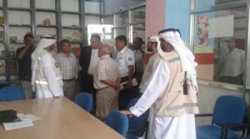 الهلال الأحمر الإماراتي يبدي استعداده لإعادة الحياة لمكتبة مسواط بعدن
